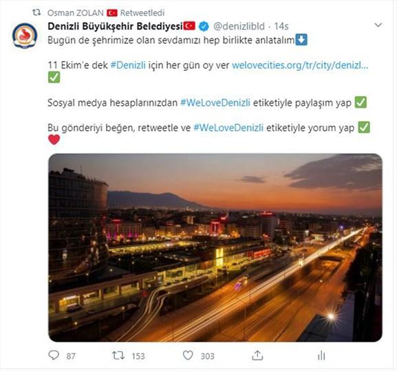 """Photo of Denizli tek yürek """"#WeLoveDenizli"""" diyor"""